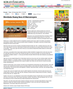 Koran Jakarta - Membuka Ruang Baca di Mancanegara.htm_20141226193551